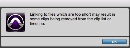 Linking Short Files - Pro Tools